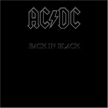 La copertina di Back in black