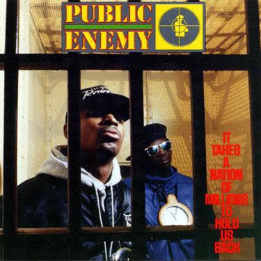 La copertina dell'albumdella notorietà per i Public enemy