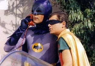 Batman e Robin al bat-telefono