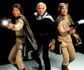Tre dei protagonisti della serie classica di Battlestar Galactica