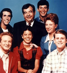 Foto di gruppo per il cast di Happy days