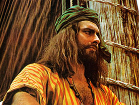 Kabir Bedi nel ruolo di Sandokan